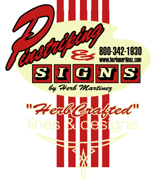 Herb Martinez | San Francisco Bay Area Pinstriping & Signs | 'The Line Doctor' | Pinstriping By Herb Martinez